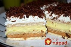 zákusky - Page 5 of 85 - Mňamky-Recepty. No Bake Cookies, No Bake Cake, My Recipes, Cake Recipes, Food Cakes, Sweet Desserts, Tiramisu, Sweet Tooth, Food And Drink