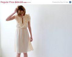 Back to school sale Pastel Yellow sundress  Women by BLUSHFASHION, $54.40