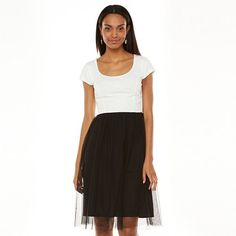 LC Lauren Conrad Knit Tulle Dress {love the black and white}