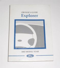 2001 ford taurus owners manual book owners manuals pinterest 2002 ford explorer owners manual book fordexplorer fandeluxe Image collections