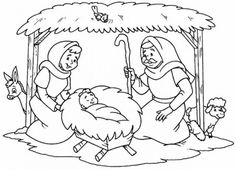 Pictures to Paint. Here you will find beautiful drawings to paint and guarantee hours of fun for adults and children. Bible Coloring Pages, Coloring Books, Christmas Colors, Christmas Themes, Spiritual Church, Christmas Coloring Sheets, Types Of Drawing, Jesus Mary And Joseph, Ornament Drawing