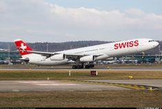Airbus A340-313, Swiss, HB-JMN, cn 175, first flight 30.4.1997 (Air Canada), Swiss delivered 4.4.2008. His last flight 8.4.2016, flight Tokyo - Zurich. Foto: Zurich, Switzerland, February 2016.