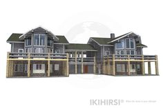 IKIHIRSI® Blocked House BH3-395 for better living <3 #loghome #loghomes