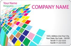 One of the great examples from one of our design projects. A bright and colorful business card.    Visit us on   www.graphicdesigneronline.info  www.activecomputech.com  www.graphicworld.co