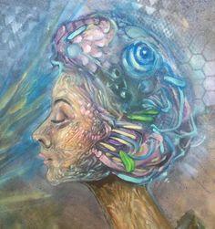 [[[[[[[[[[[WIP]]]]]]]]]]]]]]]{ <<<< OIL>>>>>> #art #oilpainting #johnbertolone #profile #surreal #surrealism #visionaryart #psychedelic #trippy #beauty #audreyhepburn #portraiture #johnbertolone