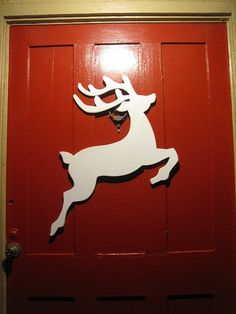 Wooden Reindeer Christmas Decoration by TheSquareNail on Etsy