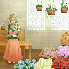 Drawing Cartoon Characters, Cartoon Drawings, Girl Cartoon, Cartoon Art, Hijab Drawing, Queens Wallpaper, Islam Women, Islamic Cartoon, Anime Muslim