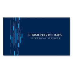 Electric lights green electrician business card business cards for modern business card for electricians ready to personalize easy to order fast shipping reheart Image collections