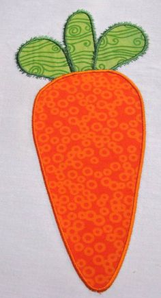 Easter Carrot Machine Applique Embroidery Design  4x4 by KCDezigns, $3.50