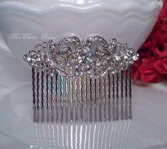 Bridal Hair Comb Bridal Comb  Rhinestone Hair Comb Bridesmaids Wedding Comb Bridal Hair Accessories Wedding Hair Comb Bridal Comb. $49.99, via Etsy.