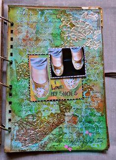 """Una"""" historia de zapatos"""", art journal. Cuando llegan las Musas."""