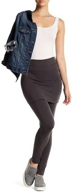 1bf0b26c0be White Mark Women s Plus Size Skirted Leggings