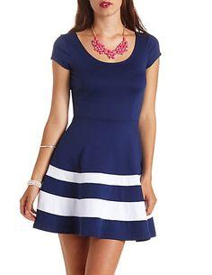 Lisa Zip Detail Skater Dress | Color blocking, Boohoo and Block dress