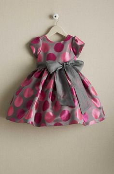 Shop Chasing Fireflies for our Girls Pink Polka Dot Dress.Little Boy Fashion Trends 2017 Baby Girl Frocks, Baby Girl Party Dresses, Frocks For Girls, Toddler Girl Dresses, Little Girl Dresses, Kids Dress Wear, Kids Gown, Baby Dress Design, Baby Girl Dress Patterns