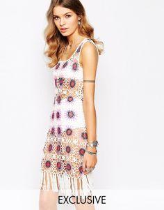 Violet+Skye+Crochet+Dress+In+Pattern+With+Tassel+Trim