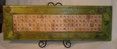 Obtainium Art - A gallery of assemblage works: Scrabble Assemblage