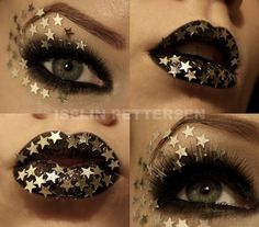 Star lips and eyes