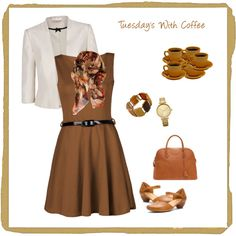 Tuesday's Workwear by alpate on Polyvore featuring polyvore, fashion, style, Jacques Vert, Think!, Hermès, Oasis and Contileoni