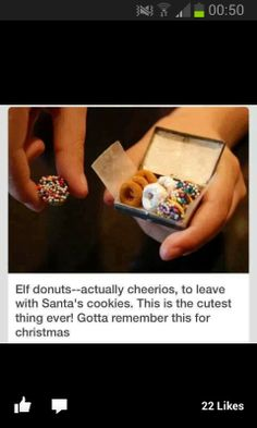 Elf donuts - cute christmas idea for kids!