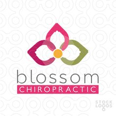 Blossom Chiropractic - Logo bright, distinctive, unique and modern.