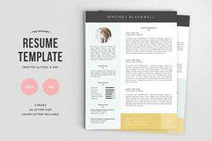 Resume Template | The Whitney 3pk by Pixel & Oak on Creative Market