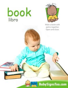 Free poster with the sign for BOOK  www.BabySignsToo.com #BabySigns #BabySignLanguage #BabySign