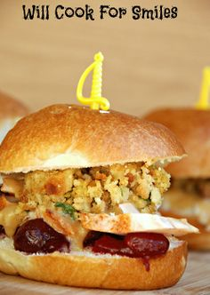 Thanksgiving Leftovers Sliders - Will Cook For Smiles #HolidayIdeaExchange