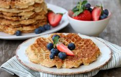 25 ulike tips til korleis du kan bruke dei! Waffles, Brunch, Healthy Recipes, Healthy Food, Baking, Dessert, Breakfast, Tips, Cakes