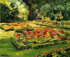 Max Liebermann - Blumenterrasse im Wannsee Garten, Ausrichtung Osten