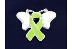 Lime Green Butterfly Pin - (P-09-9)