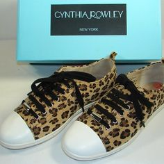 Cheetah/Leopard Print Sneakers Super sassy sneakers. Lightly worn (once or twice). New without box. But look brand new! Open to offers. Not looking to trade. ✨ Cynthia Rowley Shoes Sneakers