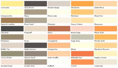 Exterior Paint Color Chart | House Paint Color - Chart, Chip, Sample, Swatch, Palette, Color Charts ...