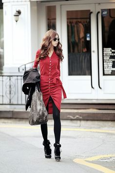 Korean Fashion Shearing Volume Dress