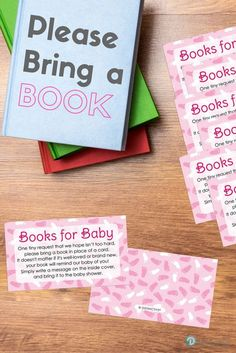 Bring a Book instead of a Card Requests for a Girl Baby Shower help to build a Baby Book Library.