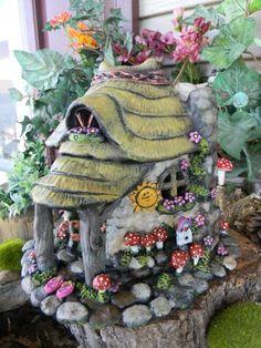 Stone Cottage Fairy TOAD House OOak by EnchantdMushroomLand