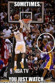 LBJ with the slam!!!