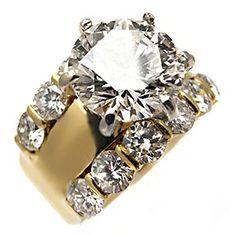 I LOVE this ring!!!!  3 Carat Diamond Engagement Ring GIA Cert I/VS1 Solid 18K Gold