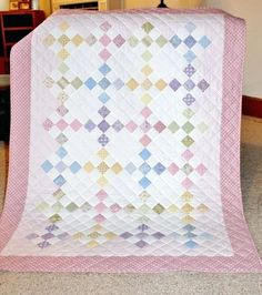 This Sunny Quilt is Sure to Charm – Quilting Digest Quilts Girl Baby Quilt Patterns Photo 3 Of 5 Nine Patch For Baby Girl By I Am Always Looking For Inspiration Free Easy Baby Girl Quilt Patterns girl baby quilt patterns Quilt Baby, Baby Quilts Easy, Cot Quilt, Baby Girl Quilts, Girls Quilts, Baby Quilt For Girls, Children's Quilts, Quilted Baby Blanket, Baby Girls