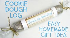 Easy Homemade Gift: Cookie Dough Log - Home Cooking Memories