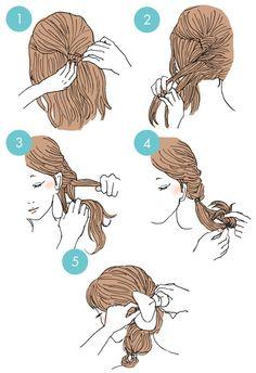 簡単・寝起きでもOK!ルーズ感が可愛いヘアアレンジ http://www.viceviza.com/article/000668/ #hair #hairstyle #hairtutorial