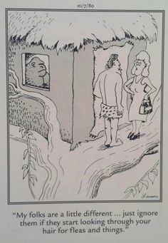 The Far Side by Gary Larson Laugh Cartoon, Cartoon Jokes, Funny Cartoons, Funny Comics, Funny Jokes, Hilarious, Far Side Cartoons, Far Side Comics, Living In The Jungle