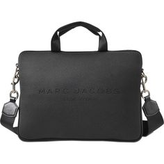 Marc Jacobs 13 Computer Case (470 SAR) ❤ liked on Polyvore featuring accessories, tech accessories, black and marc jacobs