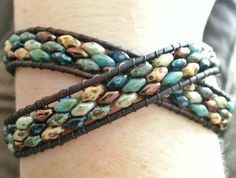Superduo leather wrap bracelet is creative inspiration for us. Get more photo about home decor related with by looking at photos gallery at the bottom of this page. We are want to say thanks if you like to share this post to another people via your facebook, pinterest, google plus …