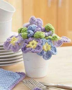 Pansies Bouquet Crochet Pattern | FaveCrafts.com