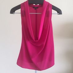 Soprano Racerback Tank NWOT Soprano Racerback Tank. Hot pink with deep cowl neck. Material is sheer - would wear a bandeau underneath.    ✖️ PAYPAL  ✖️ TRADES  ✔️ BUNDLES Soprano Tops Tank Tops