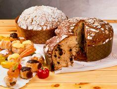 Panettone, a sweet Christmas bread in Italy Italian Christmas Bread, Italian Christmas Traditions, Italian Pastries, Italian Desserts, Italian Recipes, Italian Bread, Baking Basics, Savarin, Sweets Cake