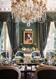 An elegant southern dining room