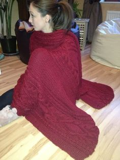 Our snuggily throw, knitted from Bergere - Irish Knits