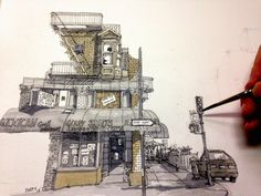 Never Stop Drawing Rob Adams, Urban Sketchers, Watercolor Artists, Art Sketchbook, Architecture, Concept Art, Sketches, Drawings, Journal