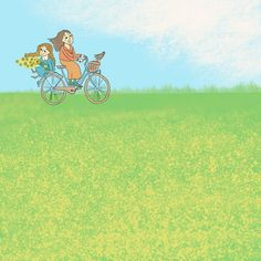 By isle riding in the field, spring vibes, canola in bloom, children book illustration, girls, dog Canola Field, Portfolio Book, Children's Book Illustration, Wordpress Theme, Anastasia, Fields, Bloom, Spring, Dogs